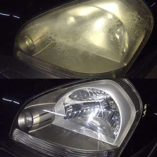 Hyundai Tuscan Headlight Restoration
