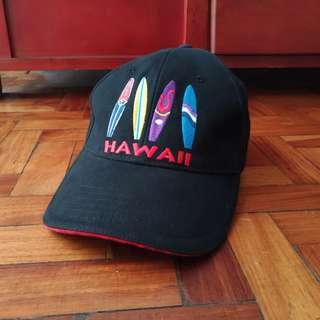 Hawaii Embroidered Black Baseball Cap