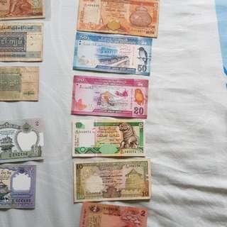 Old Notes Sri Lankan
