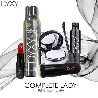 DYXY SET COMPLETE LADY BCC+FACEMIST +BRUSH +LIPSTICK +MASCARA