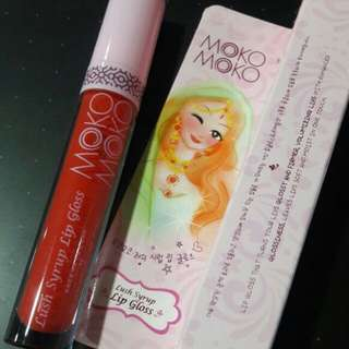 #Jual Rugi# Moko-Moko Lush Syrup Lip Gloss #red