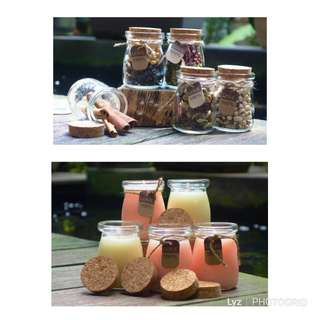 (BN) Mini Glass Jar for Pudding/Yoghurt/Candies/Mixed Nuts/Candles - 100 ml