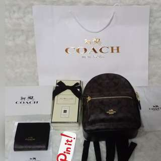 Coach Charlie Mini Backpack and Trifold Mini Wallet