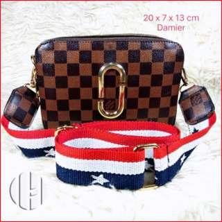 LVMJ Tas Selempang Tas Wanita Tas Selempang Import Batam Modern Fashion Tas Murah  Hand Bag