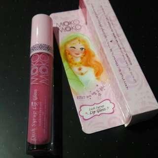 #Jual Rugi# Moko-Moko Lush Syrup Lip Gloss #pink