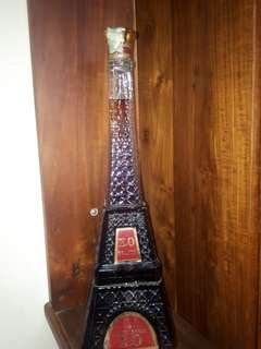 Vintage Eiffel Tower Brandy Bottle with XO Brandy ( A collectible item)