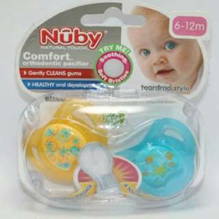 Nuby All Natural Pacifiers 6-12months