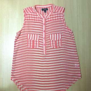 FORME Salmon Pink Stripes Sleeveless