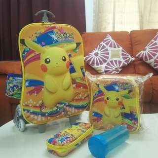 SCHOOL BAG Pokemon 4in1 IN 3D