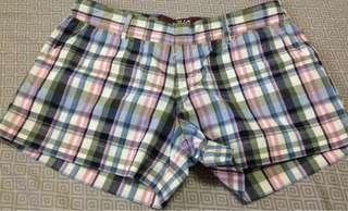 Bayo checkered cloth shorts size 0