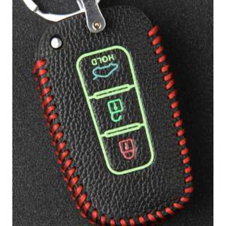 Hyundai Type  A Car Key Leather Pouch w/glow