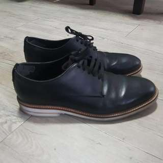 Topman Black Leather Shoes