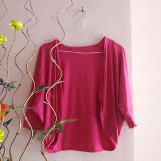 Outer cardigan pink