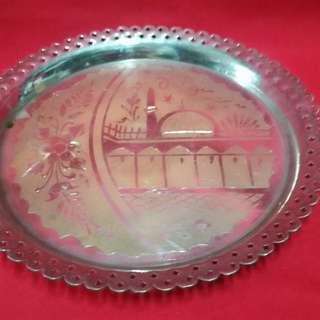 Ber1 Antique Brass Plate Pingan Tembaga Antik