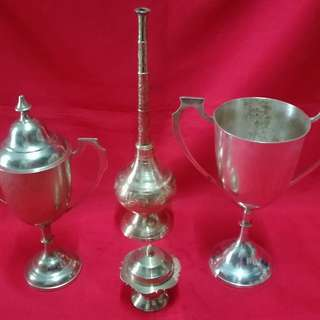Ber1 Antique Brass Deco Items Piala tembaga Antik
