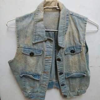 [泰國帶回] 牛仔背心外套
