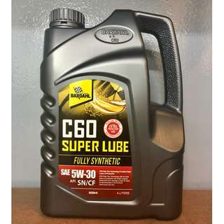 Bardahl C60 Super Lube SAE 5W30 SN/CF Fully Synthetic Engine Oil 4L