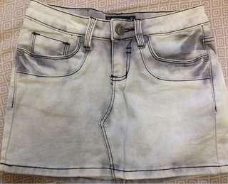 Denim jeans maong skirt size 26