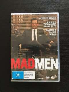 MADMEN Season 3 DVD