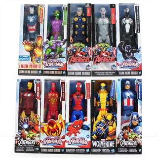 30cm The Avengers SuperHeros Captain American SpiderMan IronMan Wolverine