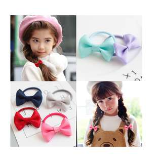 ($1.2/pair)Girl Ribbon Hair Tie