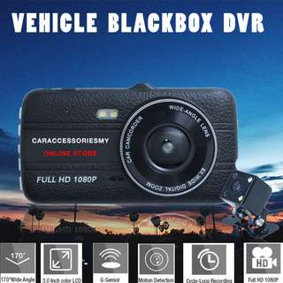 FHD 2 lens Car Camera Vehicle BlackBox DVR 1080P Camcorder Night Vision support