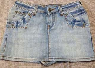 People are people denim jeans maong skirt