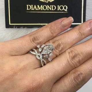 🌹 無法抗拒的誘惑 💋梨形鑽石 💋 高格調品味 🌸GiA證書1.00卡F色SI2 EX VG NON💖