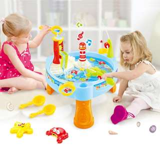 Waterpark Play Table Splash Table Fishing Toy for Kids Music Outdoor Water Toy