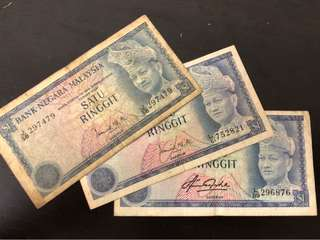 Collectible 1 dollar MALAYSIA notes