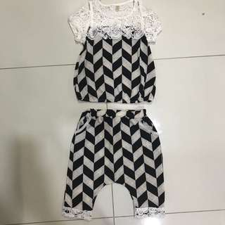 Harem Pants Set 3-5yrs