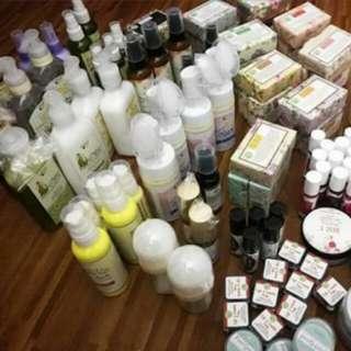 Shampoo,Lotion,Lip tint etc.