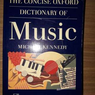 The concise oxfort dictionary of music