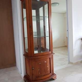 Display teakwood tall cabinet