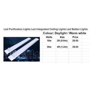 Led Purification Lights Led Integrated Ceiling Lights