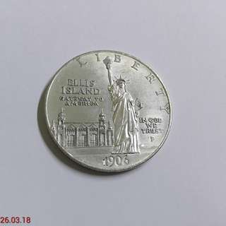 USA old silver coin (38mm)