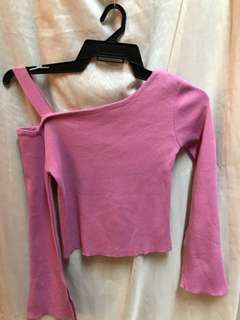 One sided lavender top