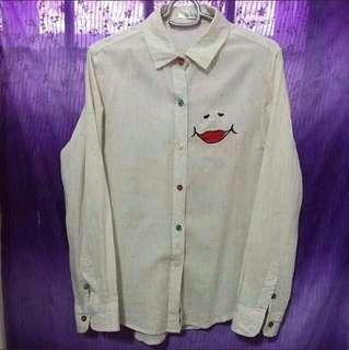 Off White Smiley blouse