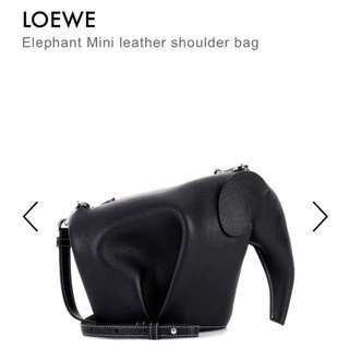 🚚 Loewe Elephant 大象 黑色