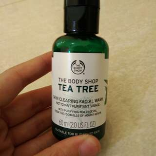 The body shop tea tree facial wah