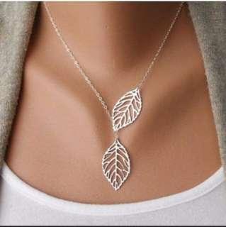 Silver Leaf Minimalist necklace