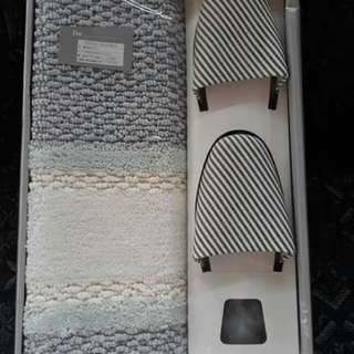 Brandnew Mat Set with Bathroom Slippers