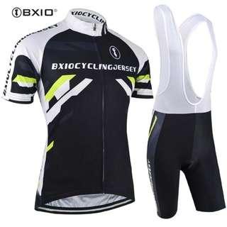 simple black white sports cycling jersey set   po