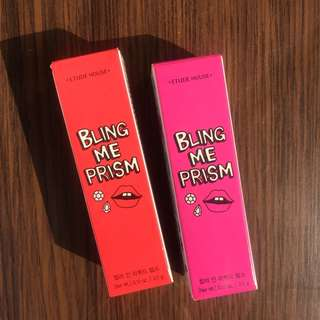 NEW! Etude House Bling Me Prism Liquid Lips