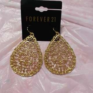 Forever 21 金色耳環兩款A18  郵寄貨品
