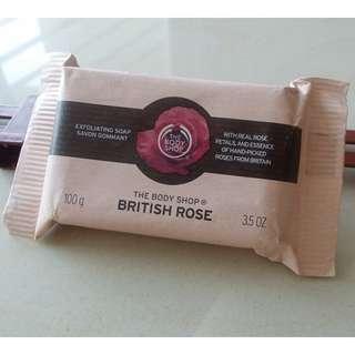 The Body Shop British Rose Exfoliating Soap   #Bajet20