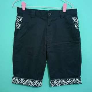 Dark Blue Tribal Print Shorts
