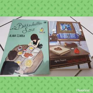 Novel Bhs Indonesia. Agnes Jessica Jejak kupu-kupu, Teenlit Bitterballen Love. 2 buku 55k