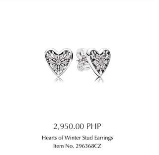 SALE!! Pandora Hearts of Winter Stud Earrings