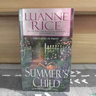 {preloved book} Summer's Child by Luanne Rice